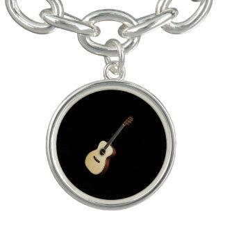 """""""Acoustic guitar"""" design jewelry set Charm Bracelets"""
