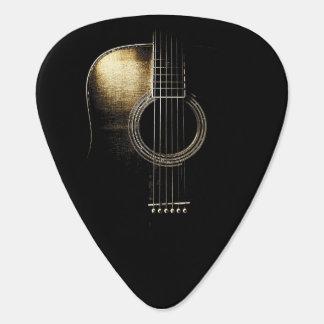 Acoustic Guitar Design Plectrum Version 3 Guitar Pick