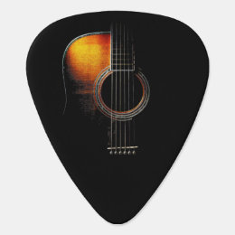 Acoustic Guitar Design Plectrum Version 4