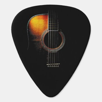 Acoustic Guitar Design Plectrum Version 4 Guitar Pick by InStock at Zazzle