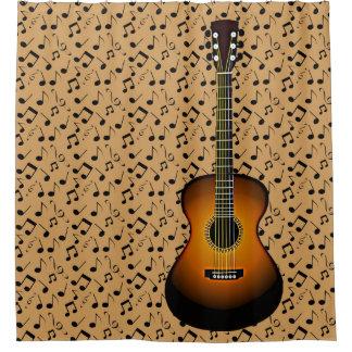 Acoustic Guitar Design Shower Curtain