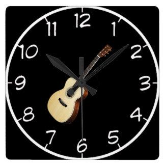 """Acoustic Guitar"" design wall clocks"