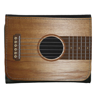 Acoustic Guitar Design Leather Trifold Wallets
