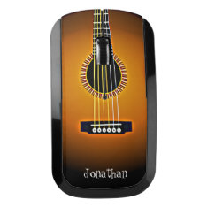 Acoustic Guitar Design Wireless Mouse at Zazzle