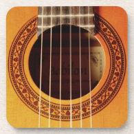 Acoustic Guitar Detail Beverage Coaster
