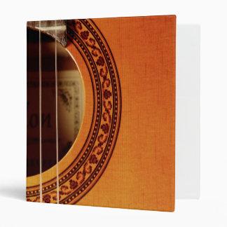 Acoustic Guitar Detail Vinyl Binder
