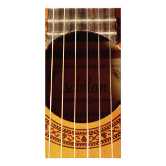 Acoustic Guitar Detail Customized Photo Card
