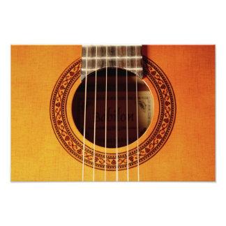 Acoustic Guitar Detail Photograph
