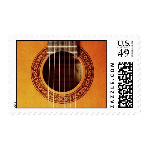 Acoustic Guitar Detail Postage