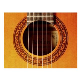 Acoustic Guitar Detail Post Card