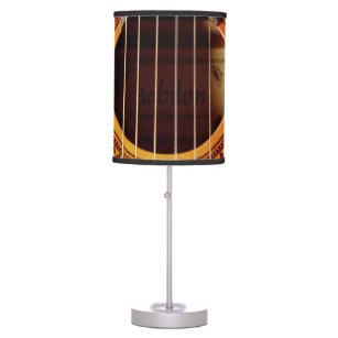 Guitar table pendant lamps zazzle acoustic guitar detail table lamp aloadofball Images