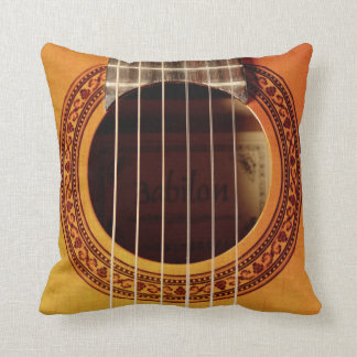 Acoustic Guitar Detail Throw Pillow