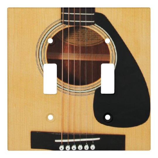 acoustic guitar double lightswitch cover. Black Bedroom Furniture Sets. Home Design Ideas