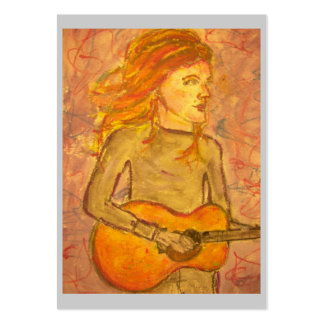 acoustic guitar drawing large business cards (Pack of 100)