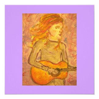acoustic guitar drawing card