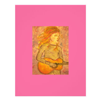acoustic guitar drawing personalized flyer