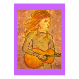 acoustic guitar drawing large business card