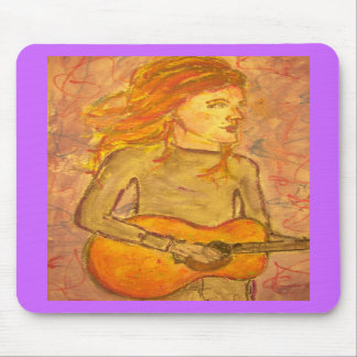 acoustic guitar drawing mouse pads