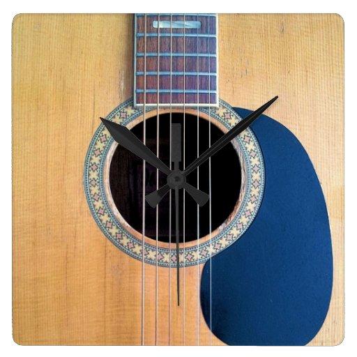 Acoustic Guitar Dreadnought 6 string Clocks