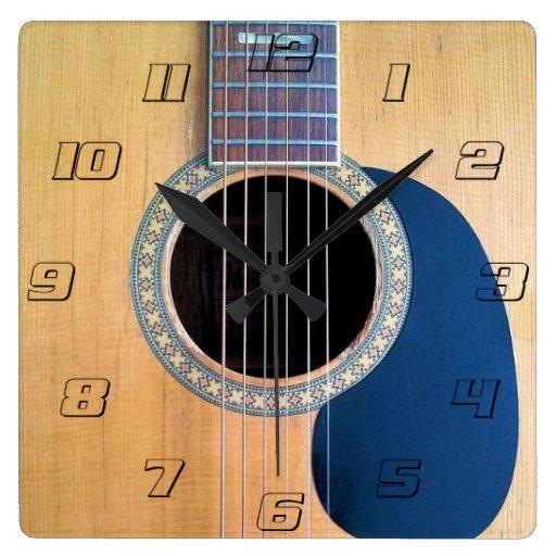 Acoustic Guitar Dreadnought 6 string Wallclocks