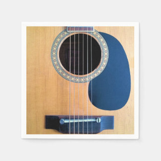 Acoustic Guitar Dreadnought 6 string Paper Napkin