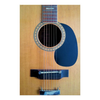Acoustic Guitar Dreadnought 6 string Poster