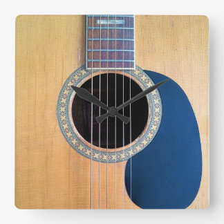 Acoustic Guitar Dreadnought 6 string Square Wall Clock