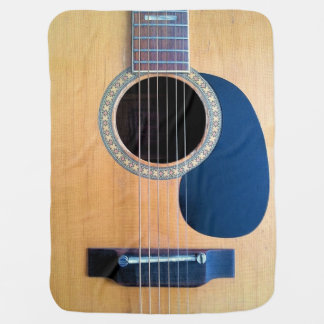 Acoustic Guitar Dreadnought 6 string Stroller Blanket