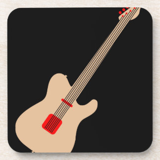 Acoustic guitar drink coaster