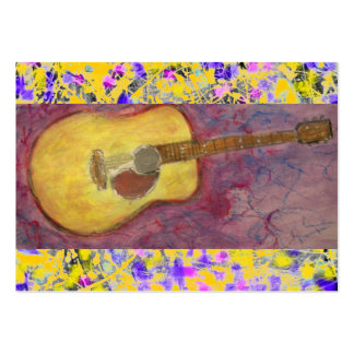 Acoustic Guitar Drip Large Business Cards (Pack Of 100)