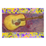Acoustic Guitar Drip Business Card Templates