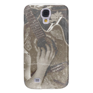 acoustic guitar female hand music grunge sepia galaxy s4 case