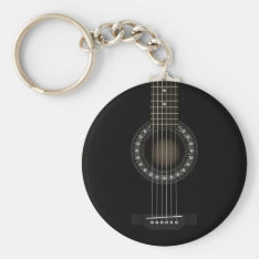 Acoustic Guitar Flag Keychain at Zazzle