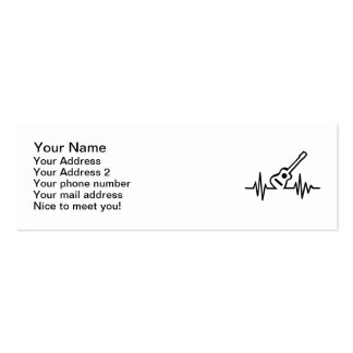 Acoustic guitar frequency Double-Sided mini business cards (Pack of 20)