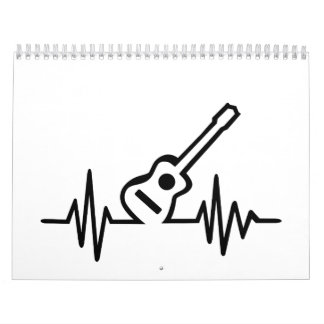 Acoustic guitar frequency wall calendar