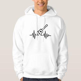 Acoustic guitar frequency hoodie