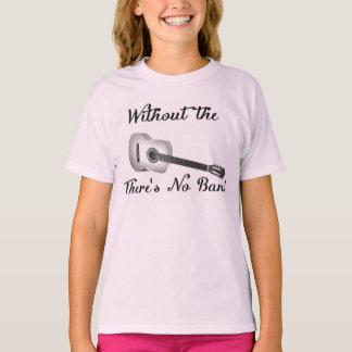 Acoustic Guitar Girls Basic Hanes Tagless ComfortS T-Shirt