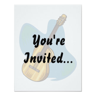 Acoustic Guitar Graphic Blue Behind Card