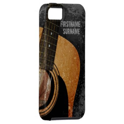 Acoustic Guitar Grey Grunge Custom iPhone 5 iPhone 5 Covers