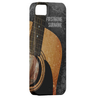 Acoustic Guitar Grey Grunge Custom iPhone 5 iPhone 5 Cases