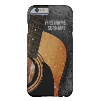 Acoustic Guitar Grey Grunge Custom iPhone 5 iPhone 6 Case