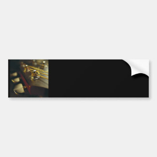 Acoustic Guitar Headstock Close-Up Bumper Sticker