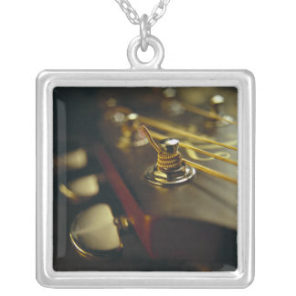 Acoustic Guitar Headstock Close-Up Personalized Necklace