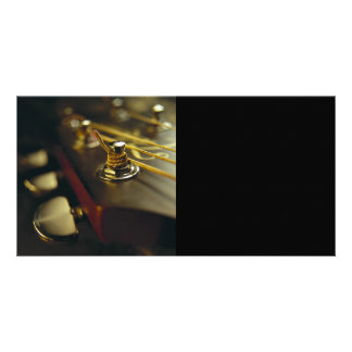 Acoustic Guitar Headstock Close-Up Customized Photo Card