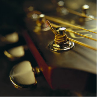 Acoustic Guitar Headstock Close-Up Statuette