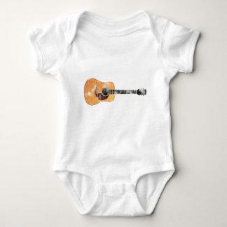 Acoustic Guitar horizontal (distressed) Baby Bodysuit