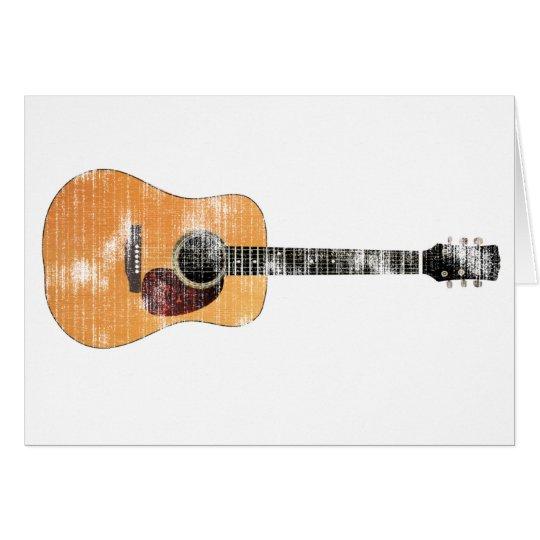 Acoustic Guitar horizontal (distressed) Card
