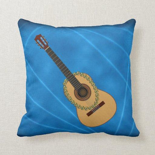 Throw Pillows Spotlight : Acoustic Guitar In the spotlight Throw Pillow