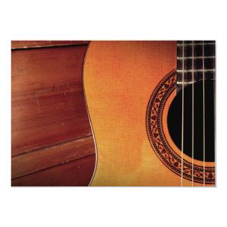 "Acoustic Guitar 5"" X 7"" Invitation Card"
