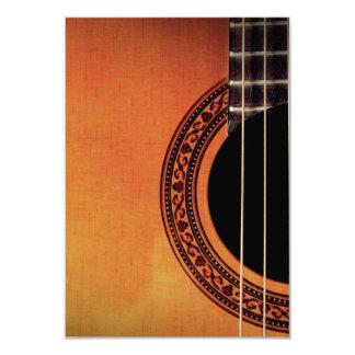 "Acoustic Guitar 3.5"" X 5"" Invitation Card"